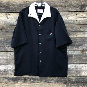 Bowling Shirt By Dragonfly Clothing Co. Black